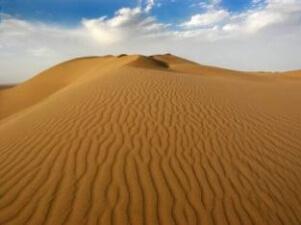 کویر ریگ جن در جنوب ده نمک